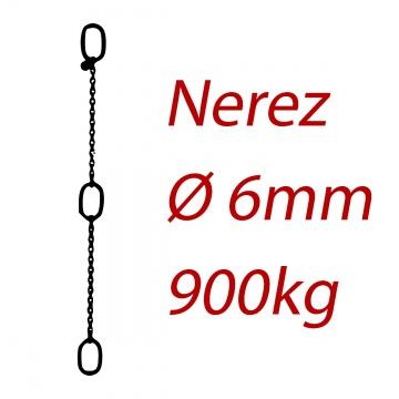 CPK 6, nerezový převěsný řetěz - nosnost 900kg - Pumpenkette