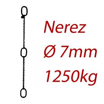 CPK 6, nerezový převěsný řetěz - nosnost 1250kg -  Pumpenkette