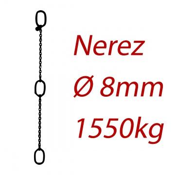 CPK 8, nerezový převěsný řetěz - nosnost 1550kg -  Pumpenkette