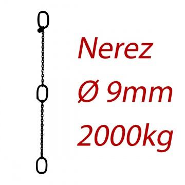 CPK 9, nerezový převěsný řetěz - nosnost 2000kg -  Pumpenkette