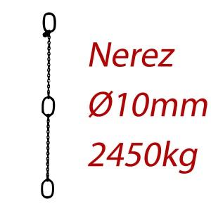 CPK 10, nerezový převěsný řetěz - nosnost 2000kg - Pumpenkette