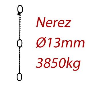 CPK 13, nerezový převěsný řetěz - nosnost 3850kg - Pumpenkette
