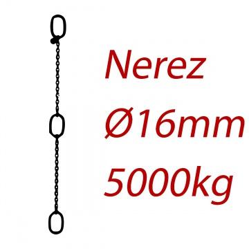 CPK 16, nerezový převěsný řetěz - nosnost 5000kg - Pumpenkette