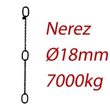 CPK 18, nerezový převěsný řetěz - nosnost 7000 kg -  Pumpenkette
