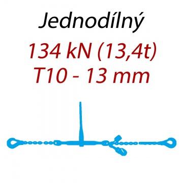 Přivazovací řetěz jednodílný s háky, třída 10, řetěz 13 mm, upínací síla 134kN
