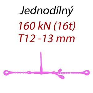 Přivazovací řetěz jednodílný s háky, třída 12, řetěz 13 mm, upínací síla 160kN
