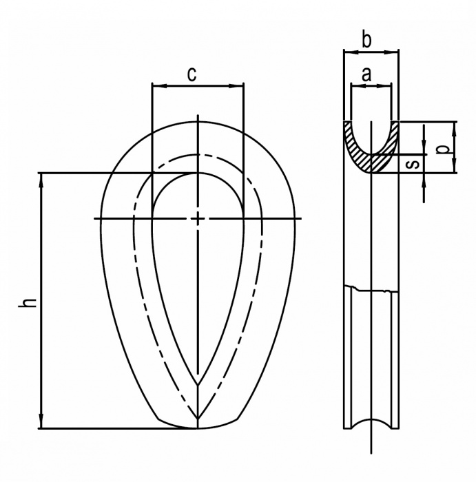 Očnice DIN 3090 pozinkovaná KS