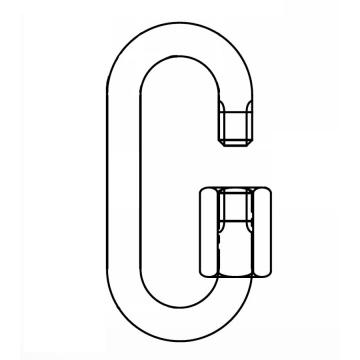 Řetězová rychlospojka , s rozměry odpovídajícími DIN 56927 - Form A, pozinkovaná