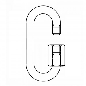 Řetězová rychlospojka s velkým otvorem, DIN 56927 - Form B, pozinkovaná