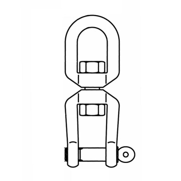 Nerezový obrtlík oko-vidlice, AISI 316 (A4)