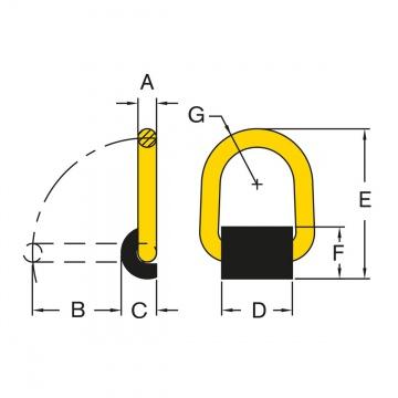 Oko k navařování, typ 096, s pružinou, třída 8