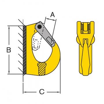Hák k navařování, typ 098, třída 8
