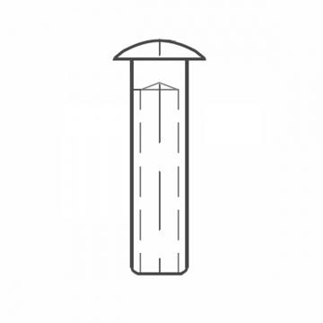 ASS - Nerezová koncovka - SUPER MINI - s čočkovitou hlavou