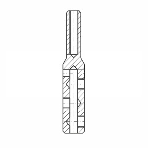 ASS - Nerezová koncovka s pravým vnitřním závitem - MINI - k montáži