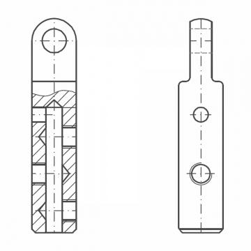 ASS - Nerezová koncovka s okem - MINI - k montáži