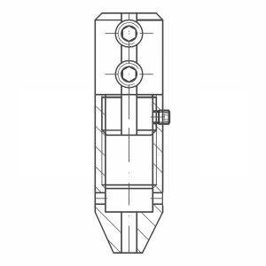 ASS - Nerezová válcová spojka - s čepičkou