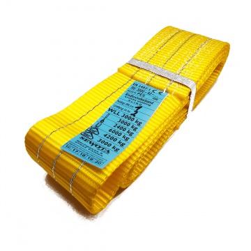 A2 3000kg, závěsný popruh plochý nekonečný jednovrstvý, žlutý, šíře 90mm