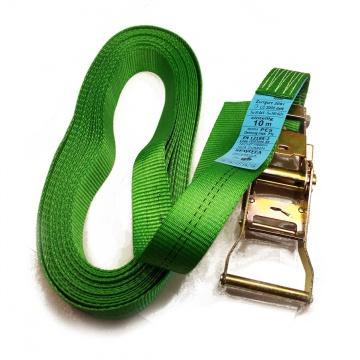 Upínací pás, typ  2001, jednodílný s ráčnou, 35mm, LC 1000/2000daN, zelený