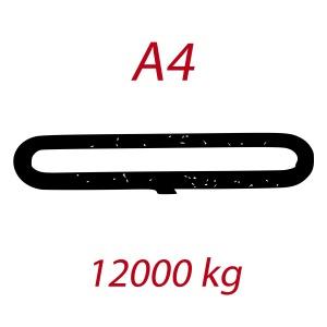A4 12000kg, závěsný popruh plochý nekonečný dvouvrstvý, oranžový, šíře 180mm