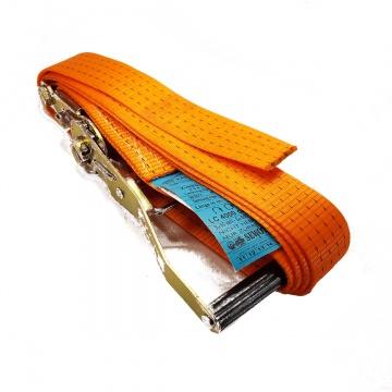 Upínací pás, typ  4001, jednodílný s ráčnou, 50mm, LC 2000/4000daN, oranžový
