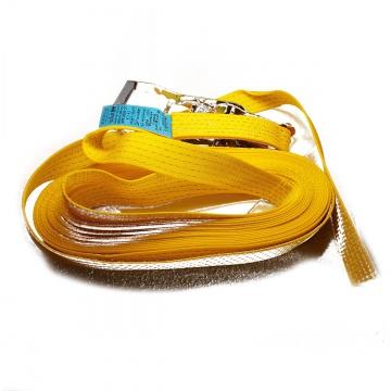Upínací pás, typ  5001, jednodílný s ráčnou, 50mm, LC 2500/5000daN, žlutý