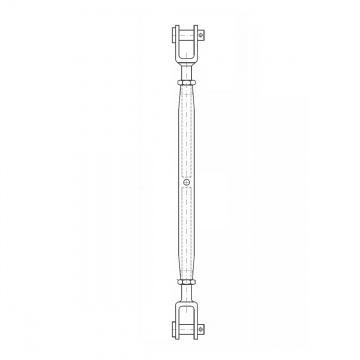 ASS - Nerezový napínák s 2 vidlicemi, dlouhé provedení - SUPER MINI