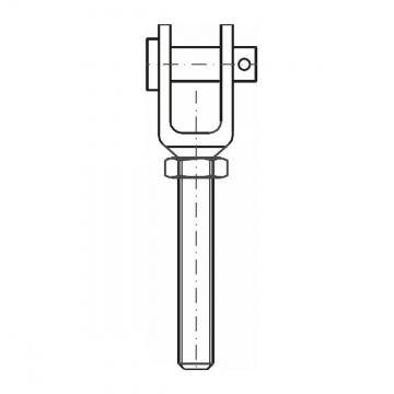 ASS - MINI - nerezová vidlice s levým závitem