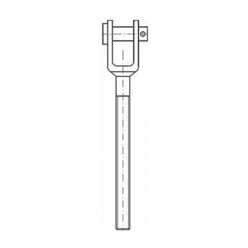 ASS - SUPER MINI - nerezová vidlice s levým závitem