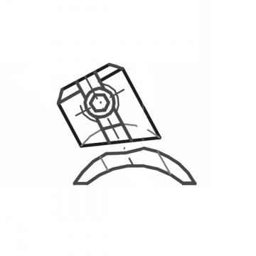 ASS - nerezová úhlová zarážka pro kulaté sloupky