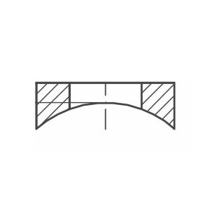 ASS - nerezová podložka pro kulaté sloupky