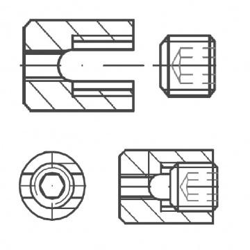ASS - nerezová display svorka