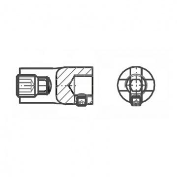ASS - nerezová křížová svorka 3D se závitem M12 pro připojení na zeď