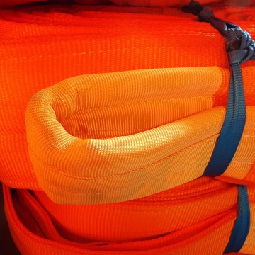 B4 - 12000kg, závěsný popruh čtyřvrstvý plochý s oky, oranžový,š.180mm