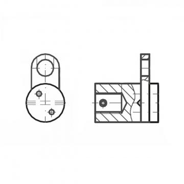 ASS - nerezová křížová svorka se závitem M12 pro připojení na zeď