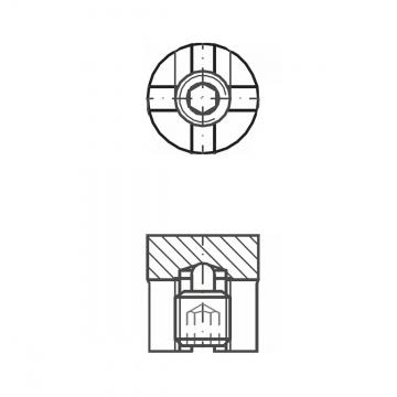 ASS - nerezová křížová svorka jednoduchá