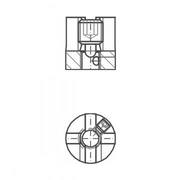 ASS - nerezová křížová svorka jednoduchá se závitem M8 pro připojení na zeď