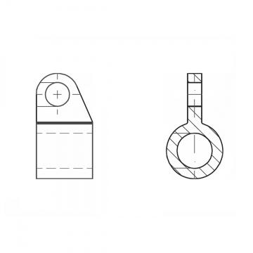 ASS - nerezové pouzdro s okem pro vodorovné kotvení