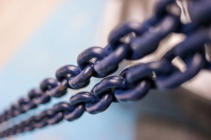Řetěz vysokopevnostní, třída 10, modrý