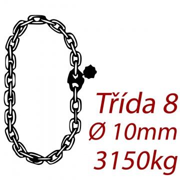 Vázací řetěz jakostní třídy 8 nekonečný průměr řetězu 10mm nosnost 3150Kg