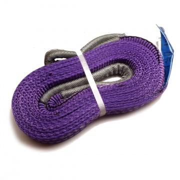 Dvouvrstvý plochý pás s textilními oky B2 - 1000kg, 30mm, fialový