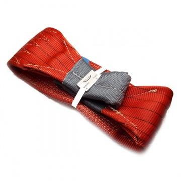 Dvouvrstvý plochý pás s textilními oky B2 - 5000kg, 150mm, červený
