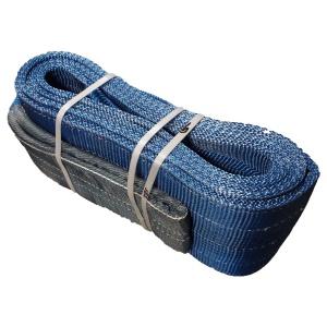 Dvouvrstvý plochý pás s textilními oky B2 - 8000kg, 240mm, modrý