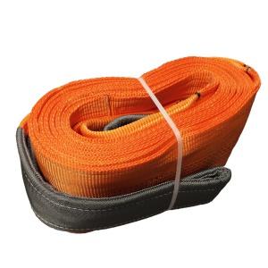 Dvouvrstvý plochý pás s textilními oky B2 - 10000kg, 300mm, oranžový