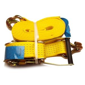 OVASLING, typ 5002 dvoudílný přivazovací pás s dvojitým hrotovým hákem IHD - 2500 daN