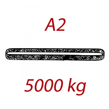 A2 5000kg,  závěsný popruh plochý nekonečný jednovrstvý, červený, šíře 150mm