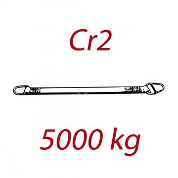 Cr2 - 5000kg, popruh plochý s kovovými provlékacími oky, červený, šíře 150mm