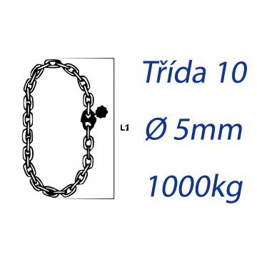 Vázací řetěz třídy 10, nekonečný, průměr 5mm, nosnost pramenu 1000kg