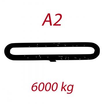 A2 6000kg,  závěsný popruh plochý nekonečný jednovrstvý, hnědý, šíře 180mm
