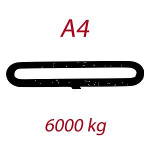 A4 6000kg, závěsný popruh plochý nekonečný dvouvrstvý, hnědý, šíře 90mm