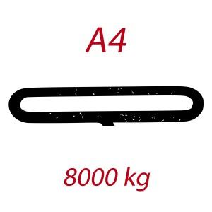 A4 8000kg, závěsný popruh plochý nekonečný dvouvrstvý, modrý, šíře 120mm